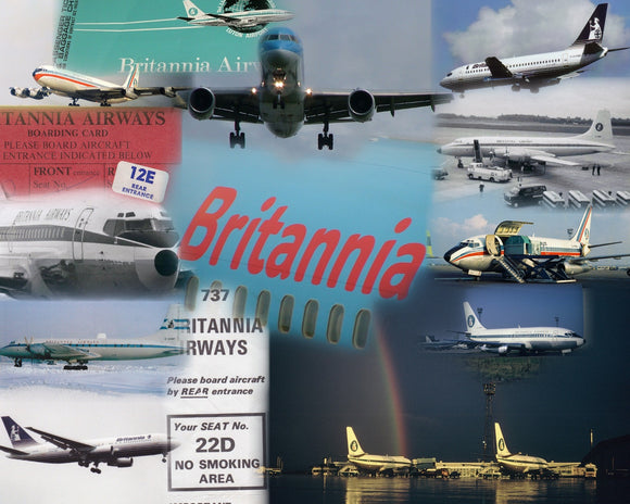 BRITANNIA AIRWAYS  -  A4 Collage Print BY001
