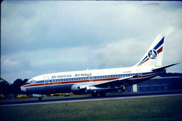 Britannia Airways Boeing 737 G-AVRN - ORIGINAL SLIDE
