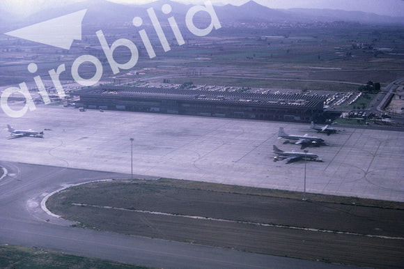 Barcelona Airport 1971 seen from Court Line BAC 111  - ORIGINAL SLIDE