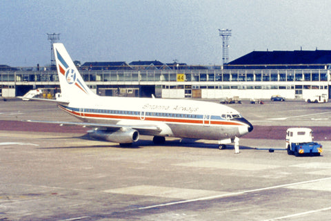 Britannia Airways Boeing 737 on push-back Manchester - ORIGINAL SLIDE