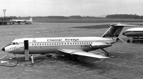 CHANNEL AIRWAYS BAC 111 G-AWEJ  - 6 x 4 Print