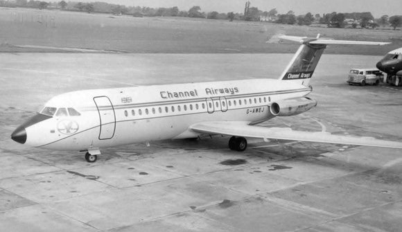 CHANNEL AIRWAYS BAC 111 G-AWEJ at Southend - 6 x 4 Print