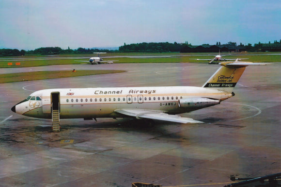 CHANNEL AIRWAYS BAC 111 G-AWJK  - 6 x 4 Print