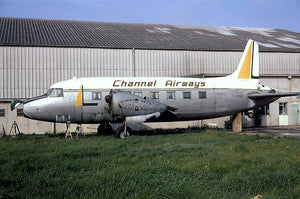 CHANNEL AIRWAYS SCRAPPED VICKERS VIKING G-APOP - 6 x 4 Print