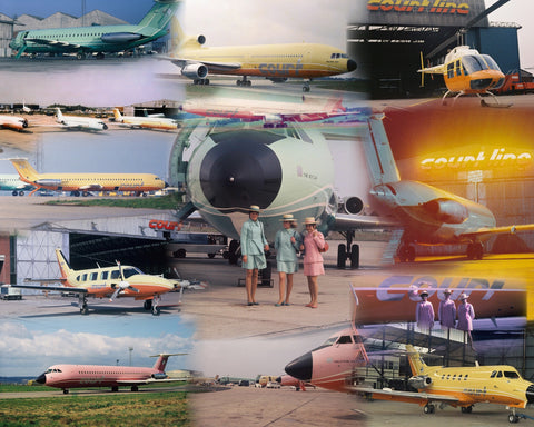 COURT LINE AVIATION -  A4 Collage Print OU001