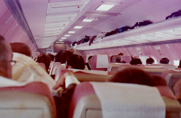 Court Line BAC 111 G-AXMI Passenger Cabin during flight - 6 x 4 Print OU047