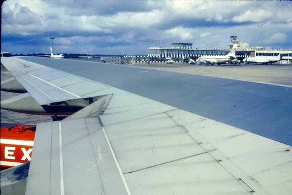 Court Line BAC 111 G-AXMJ at Dublin with Aer Lingus 737 - ORIGINAL SLIDE