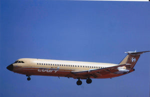 Court Line BAC 111 G-AYOR arriving at Malta   - 6 x 4 Print OU021