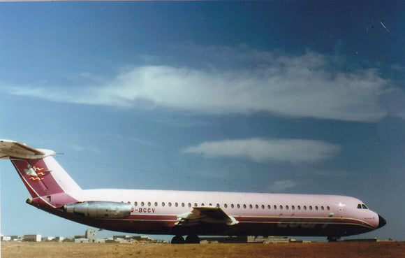 Court Line BAC 111 G-BCCV at Malta   - 6 x 4 Print OU024