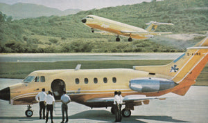 Court Line HS 125 G-AVRG at St.Lucia with LIAT G-AXMK behind  - 6 x 4 Print OU039