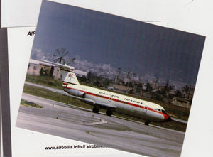 DAN AIR BAC 1-11 G-AZED at Palma Airport  Postcard