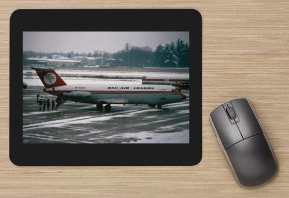 Dan Air BAC 111 in the snow - aircraft  - MOUSE MAT