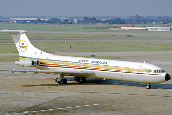 East African Airways Vickers VC10 5H-MOG  6 x 4 Print EAA004