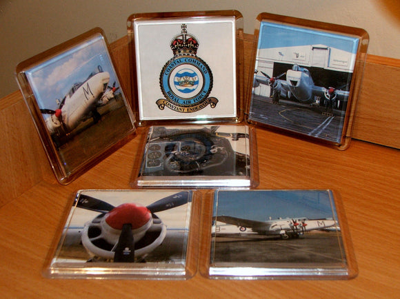 RAF Coastal Command Shackleton Aircraft Drink Coasters x 6
