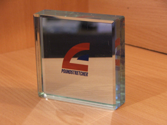 British Airways Poundstretcher Heavy Weight Glass Paper Weight