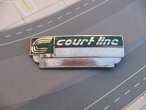 Copy of COURT LINE AVIATION Metal Name badge