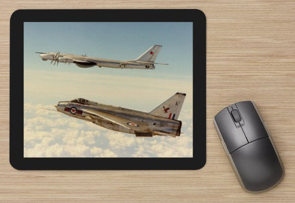 Fighter 33 RAF LIGHTNING ESCORTING TUPOLEV BEAR -  MOUSE MAT