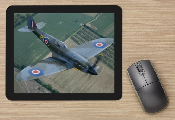Fighter 38 RAF SPITFIRE IN FLIGHT  -  MOUSE MAT
