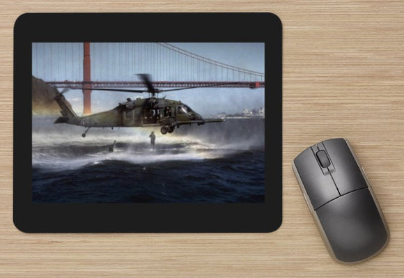 Fighter 44 US NAVY  HELICOPTER AT SAN FRANCISCO BAY  -  MOUSE MAT