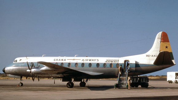 Ghana Airways Vickers Viscount 9G-AAU  6 x 4 Print GH005