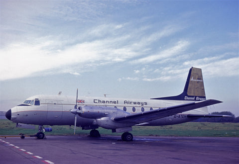 CHANNEL AIRWAYS HS 748  G-ATEI SCOTTISH FLYER- 6 x 4 Print