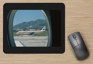 Iberia Douglas DC8 at Malaga from Court Line BAC 111  - MOUSE MAT