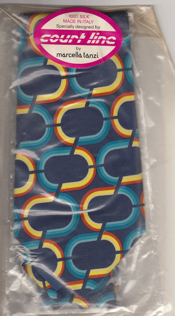 COURT LINE AVIATION Marcella Tanzi 100% Silk Tie - Duty Free Sealed - Collector's Item
