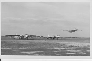 Princess Flying Boat G-ALUN Blackbush Airport 11 Sep 1953  ORIGINAL PRINT -  5.5 x 3.5 inches