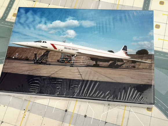 BRITISH AIRWAYS CONCORDE Canvas Print