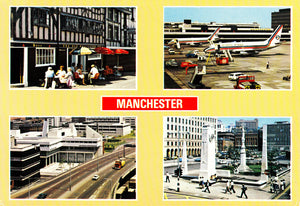 Manchester Airport Britannia Airways Boeing 737 POSTCARD