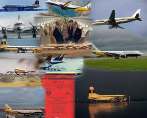 MONARCH AIRLINES -  A4 Collage Print OM001