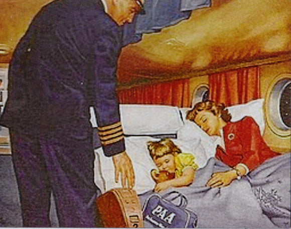 PAN AM Pan American Captain in passenger cabin Fridge Magnet