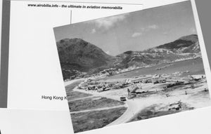 Hong Kong Kai Tak Airport 1954 Sunderland Flying Boats Postcard