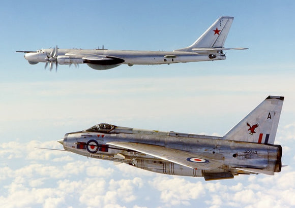RAF English Electric Lightning with Russian Bear Bomber - 6 x 4 Print RAF013