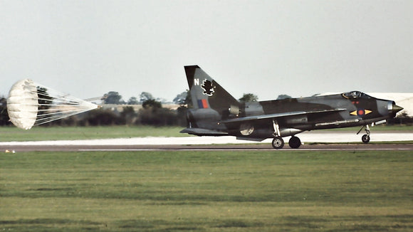 RAF English Electric Lightning with parachute landing - 6 x 4 Print RAF016