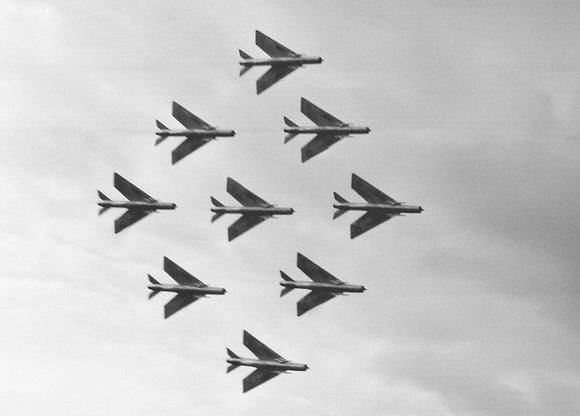 RAF English Electric Lightning Diamond Formation - 6 x 4 Print RAF019