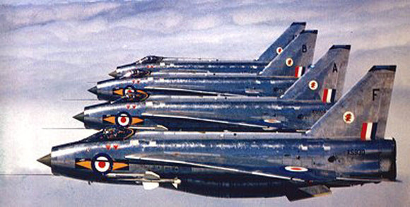 RAF English Electric Lightning formation - 6 x 4 Print RAF014