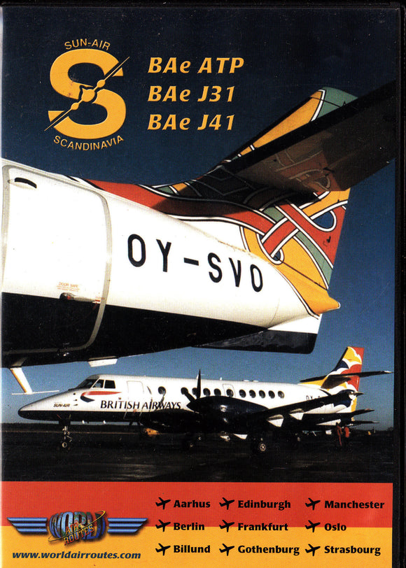 SUN-AIR Bae ATP Jetstream J31 J41 Aircraft DVD