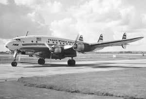 TWA Trans World Airlines Lockheed Constellation N6022C -  6 x 4 Print TW001