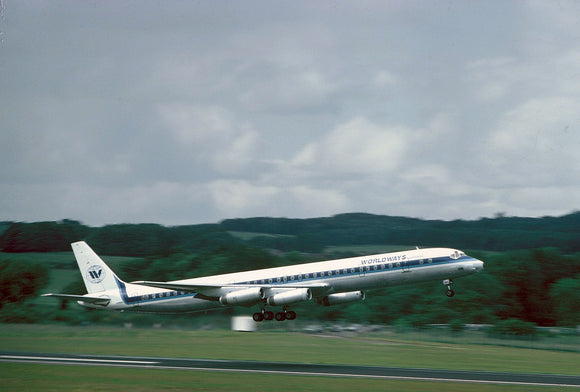 Worldways Douglas DC8 Super 61 - ORIGINAL SLIDE