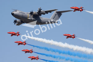 RAF Airbus A400M with RED Arrows Fridge Magnet