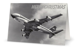 BOAC BOEING 747 CHRISTMAS CARD - LIMITED EDITION