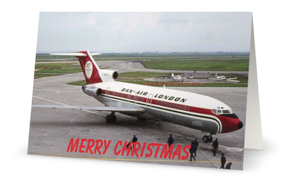 DAN AIR BOEING 727 CHRISTMAS CARD - LIMITED EDITION