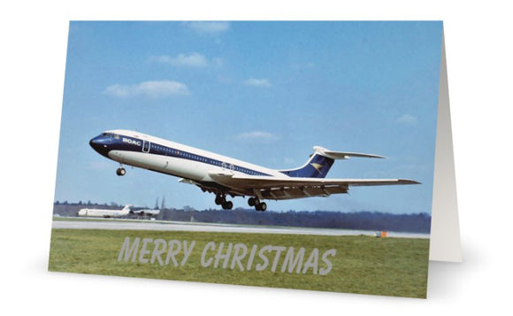 BOAC Vickers VC10 Christmas Card (Limited Edition) -