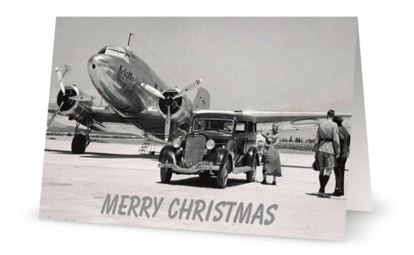 KLM ROYAL DUTCH AIRLINES DOUGLAS DC3 DAKOTA CHRISTMAS CARD - LIMITED EDITION