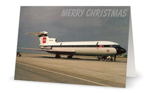 BEA BRITISH EUROPEAN AIRWAYS HS TRIDENT 2-  G-AVFA  CHRISTMAS CARD - LIMITED EDITION