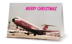 COURT LINE BAC 111 EX MALTA  CHRISTMAS CARD - LIMITED EDITION