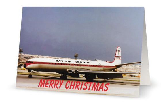 DAN AIR COMET 4B Christmas Card (Limited Edition) -