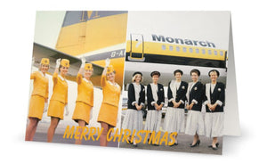 MONARCH AIRLINES TRIBUTE CHRISTMAS CARD - LIMITED EDITION