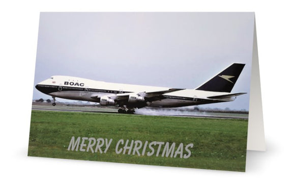 BOAC BOEING 747 Christmas Card (Limited Edition) -